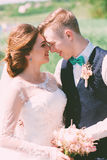 Portrait of happy smiling married couple Royalty Free Stock Photo