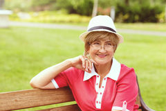 Portrait of happy smiling senior woman Royalty Free Stock Photo