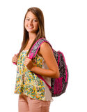 Portrait of happy smiling teenage schoolgirl Royalty Free Stock Images