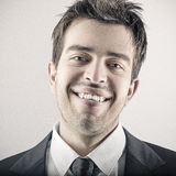 Portrait of happy smiling young business man Stock Images