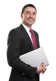 Portrait of happy smiling young businessman Royalty Free Stock Photo