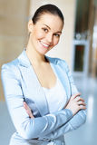 Portrait of a confident young businesswoman Royalty Free Stock Photos