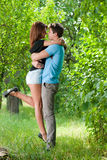 Portrait of a happy smiling young couple Royalty Free Stock Images