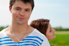 Portrait of a Happy smiling Young couple Royalty Free Stock Image