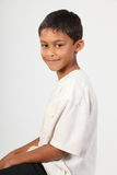 Portrait of happy smiling young ethnic boy Royalty Free Stock Images