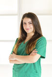 Portrait of happy smiling young female doctor Royalty Free Stock Images