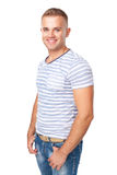 Portrait of  happy smiling young man Royalty Free Stock Images