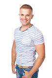 Portrait of  happy smiling young man Stock Photos