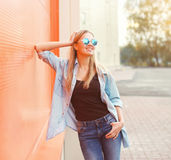 Portrait of happy smiling young woman wearing a casual clothes Stock Photography