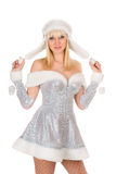 Portrait of a happy Snow Maiden Stock Photography
