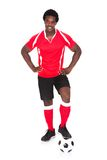 Portrait Of Happy Soccer Player Royalty Free Stock Photography
