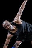 Portrait of happy sportsman exercising Royalty Free Stock Image
