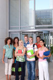 Portrait of happy student group royalty free stock image