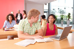 Portrait of happy student group Royalty Free Stock Photo