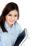 Portrait of happy student holding a few books Royalty Free Stock Photo