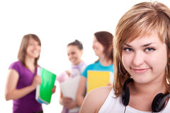 Portrait of a happy  students Stock Images