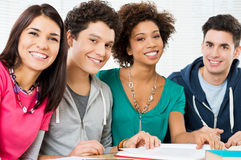 Portrait Of Happy Students Royalty Free Stock Photos