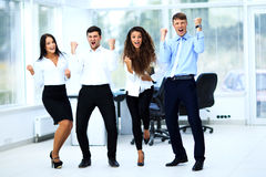 Portrait Of Happy Successful Business Group Stock Images