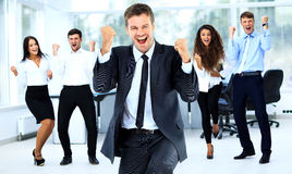 Portrait Of Happy Successful Business Group Stock Photography