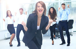 Portrait Of Happy Successful Business Group at office Stock Images