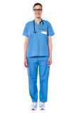 Portrait of happy successful female doctor Stock Photography