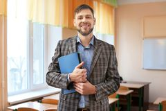 Portrait of happy teacher stock photos