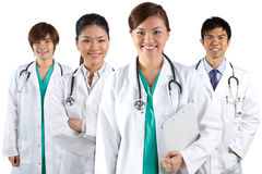 Portrait of a happy team of Doctors Stock Photography