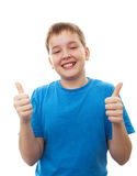 Portrait happy teenage boy Stock Photo