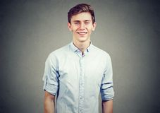 Portrait of a happy teenager man smiling. Portrait of a happy teenager man Royalty Free Stock Photo