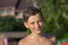 Portrait happy teenager outdoor Royalty Free Stock Images