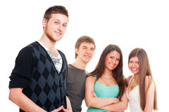 Portrait of happy teenagers Royalty Free Stock Photography