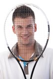 Portrait of happy tennis player Royalty Free Stock Photography