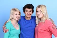 Portrait Of Happy Three Friends Stock Photos