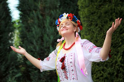 Portrait Happy Ukrainian woman Royalty Free Stock Images