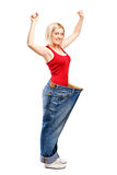 A portrait of a happy weight loss female Stock Photography