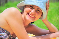 Portrait of a happy woman Stock Image