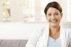Portrait of happy woman Stock Photos