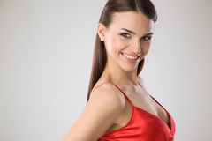 Portrait of a happy woman Royalty Free Stock Images