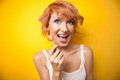 Portrait of a happy woman Royalty Free Stock Photography