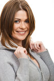 Portrait of happy  woman Stock Photography