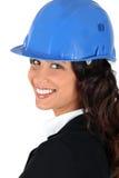 Portrait of happy woman entrepreneur Stock Images