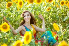 Portrait of a happy woman. Royalty Free Stock Photo