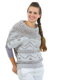 Portrait of happy woman in sweater Royalty Free Stock Photography