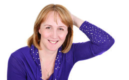 Portrait of happy woman. Royalty Free Stock Photography