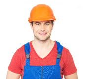 Portrait of happy worker in uniform Royalty Free Stock Image