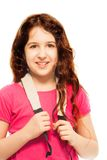 Happy 11 years girl Royalty Free Stock Image