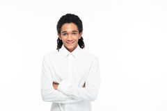 Portrait of a happy young afro american businessman Royalty Free Stock Photo