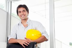 Portrait of Happy Young Architect royalty free stock image