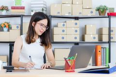 Asian business lady at office stock images
