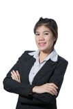 Portrait of happy young beautiful business woman Royalty Free Stock Photo